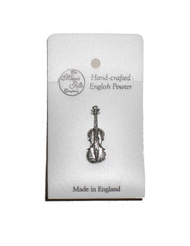 Pewter pin badge - Violin