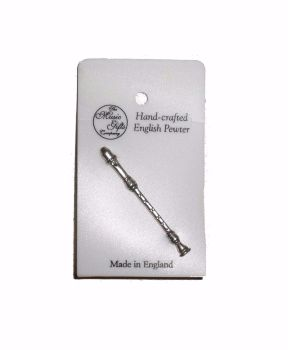 Pewter pin badge - Recorder