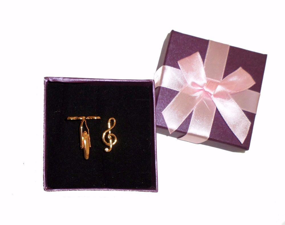 Cufflinks -  Treble clef
