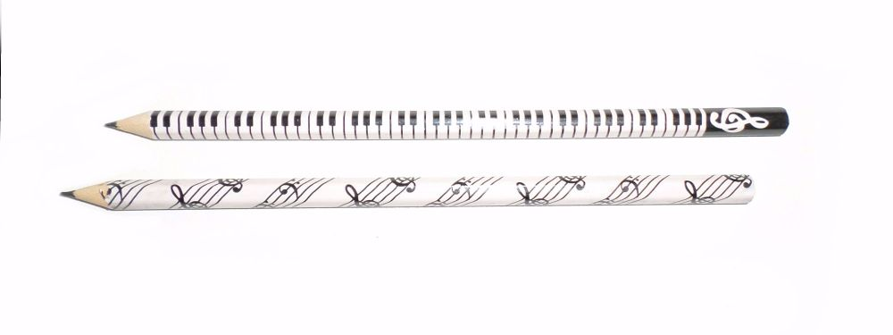 Music pencil - Keyboard/stave design