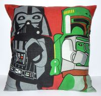 STAR WARS LEGO BOBA FETT & VADER CUSHION