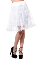 PETTICOAT SKIRT WHITE NET