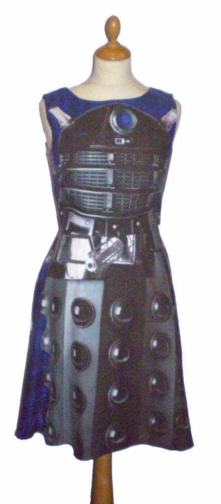 DR WHO BLACK DALEK DRESS (SIZES 10-12, 12-14, 14-16 & TO ORDER)