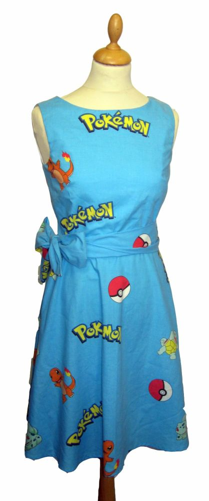 POKEMON POKEBALL DRESS (PLEASE NOTE DOES NOT COME WITH SASH)