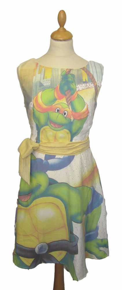 TURTLES MICHAELANGELO DRESS SIZE 10-12