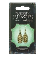 FANTASTIC BEASTS OFFICIAL 'NEWT SCAMANDER LOGO' EARRINGS