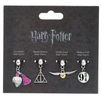HARRY POTTER OFFICIAL CHARM SET #1 (snitch, hallows, potion, platform 9 & 3/4)