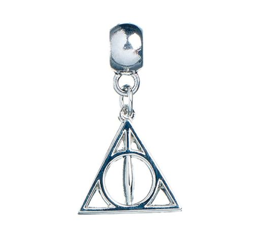 HARRY POTTER OFFICIAL SILVER PLATED DEATHLY HALLOWS SLIDER CHARM