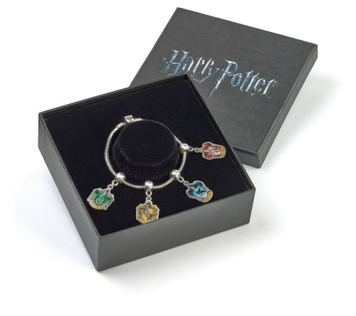 HARRY POTTER  OFFICIAL SILVER PLATED SLIDER CHARM BRACELET