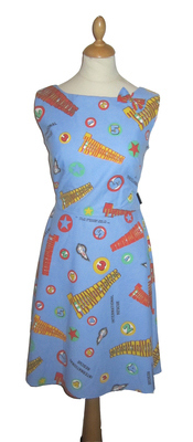THUNDERBIRDS LOGO DRESS WITH BOW