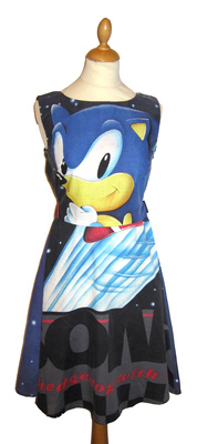 SONIC THE HEDGEHOG BLACK DRESS SIZE 10-12