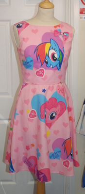 MY LITTLE PONY PINKIE-DASH DRESS SIZES 6-22