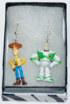 DISNEY TOY STORY BUZZ & WOODY EARRINGS