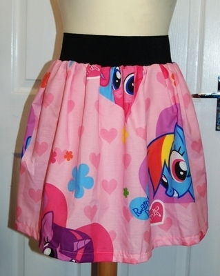 MY LITTLE PONY PINKIE PIE SKATER SKIRT please note sizes S & XS are being m