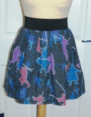 STAR WARS BLACK JEDI SKATER SKIRT