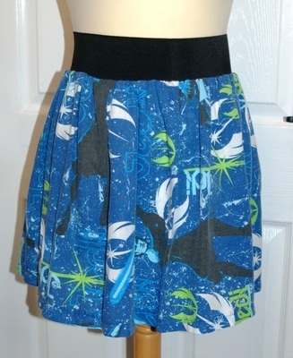 STAR WARS BLUE CLONE WARS JEDI SKATER SKIRT