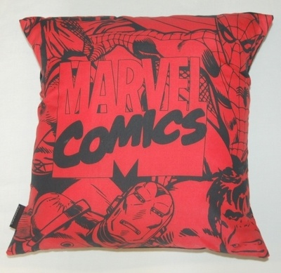 MARVEL COMICS CUSHION IN RED