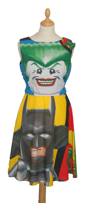 BATMAN LEGO JOKER DRESS SIZES 8-10 & 10-12 AND MADE TO ORDER - orders take