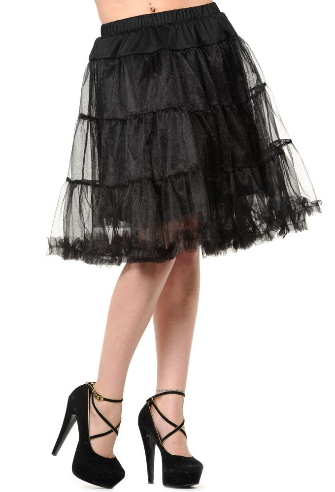 BLACK NET PETTICOAT SKIRT