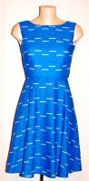 AVENGERS BLUE LOGO DRESS SIZE UK 6-8 HANDMADE BY GEEK BOUTIQUE