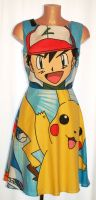 POKEMON ASH & PIKACHU DRESS SIZE 8-10, 12-14, 16-18 & MADE TO ORDER