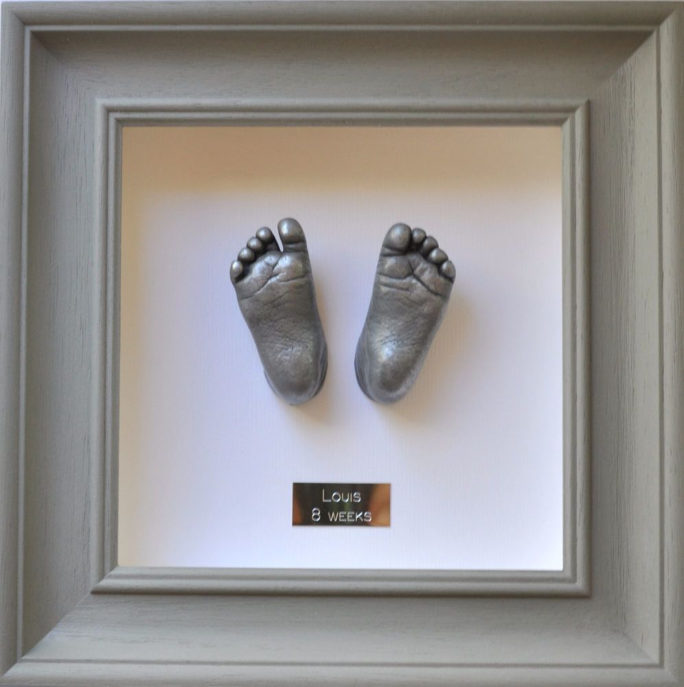 Aluminium resin Baby feet framed