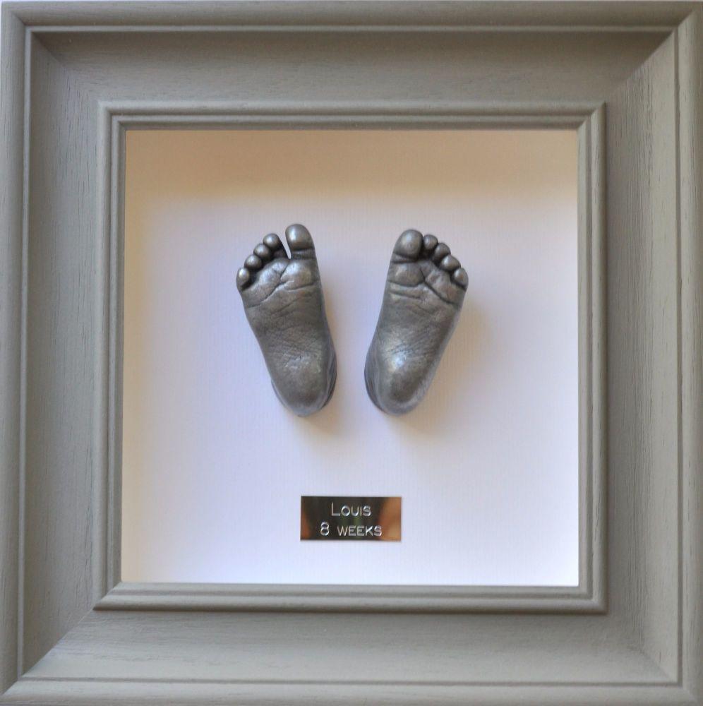 Aluminium resin Baby feet framed