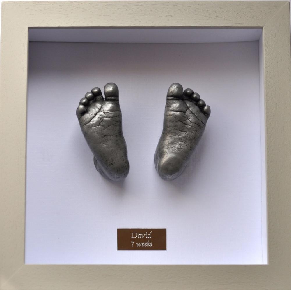 Framed Aluminium Baby Feet