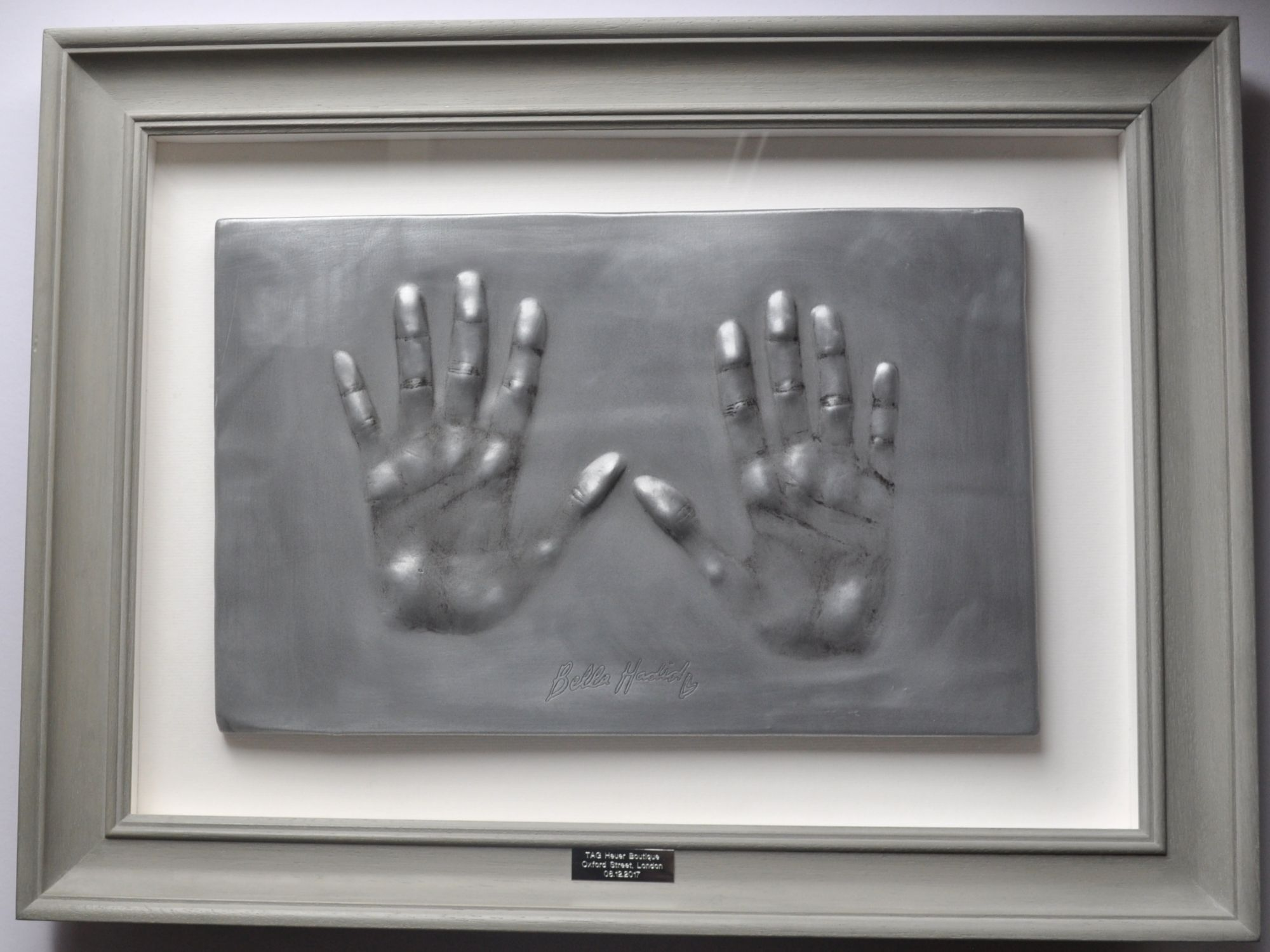 The finished hands were cast in Aluminium for display in the TAG Heuer Boutique