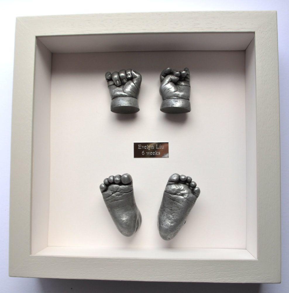 3D Resin hands and feet framed