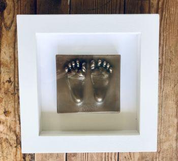 bronze resin baby feet impression
