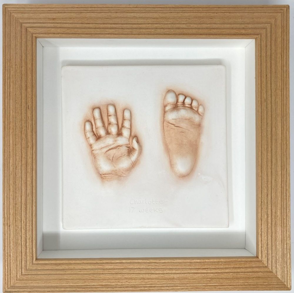small impression in oak effect frame