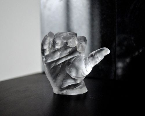 Lead Crystal Baby Hand