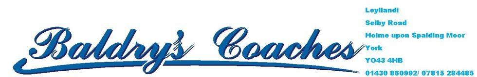 Baldry's Coach Hire Online, site logo.