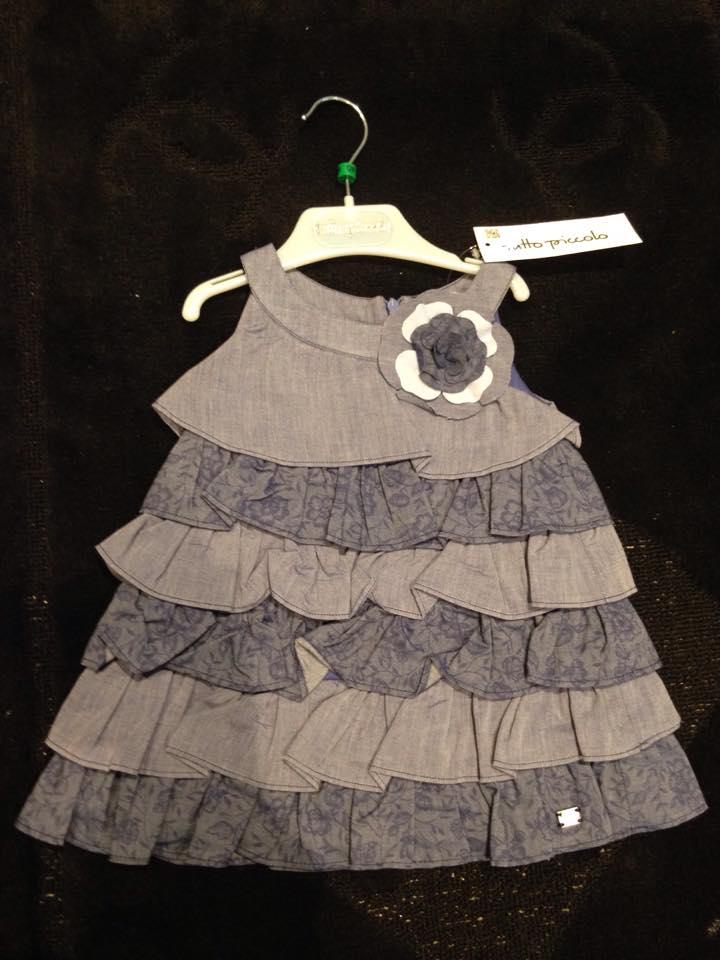 Girls Tutto Piccolo Navy Dress