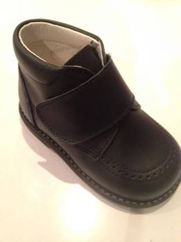 Boys Andanines Navy Leather Boot