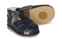 CLEARANCE PRICE NOW ONLY £20 Boys Leather Sandals  3320 Wide Fitting - Navy