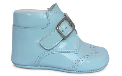 Baby Boys Soft Sole Patent Boot - Blue