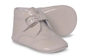 Baby Boys Soft Sole Patent Boot 1173 - Cream