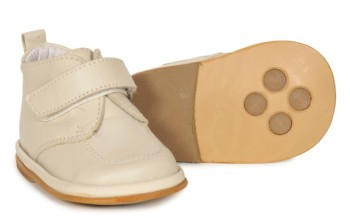 CLEARANCE PRICE NOW ONLY £20 Boys Leather Boot 2598 - Cream (Wider Fitting)