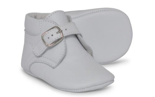 Baby Boys Soft Sole Leather Boot 1172 - White