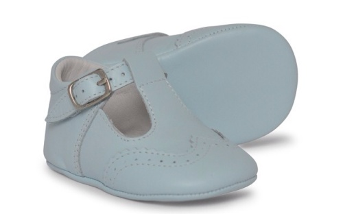 Baby Boys Soft Sole T Bar 104 - Blue Leather