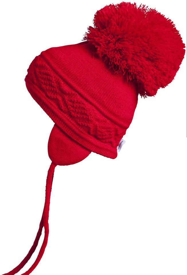Satila Pom Pom Hat Malva Red