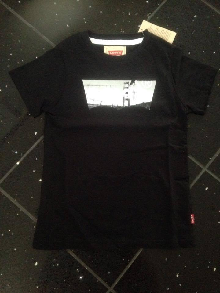 Boys Levis T Shirt Black