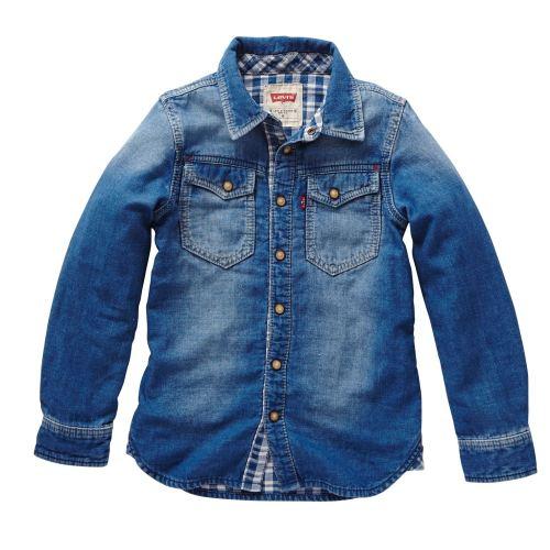 Boys Levis Shirt Blue