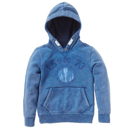 Boys Levis Hooded Top Blue