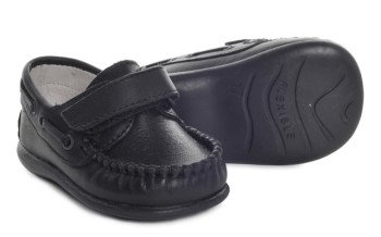 CLEARANCE PRICE NOW ONLY £20 Boys Leather Shoe 2625 - Navy (Wider Fitting)