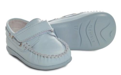 Boys Leather Shoe 2625 - Blue