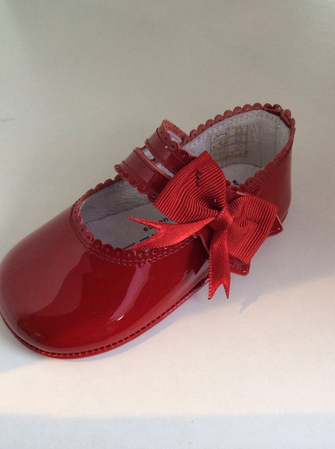 Girls Andanines Soft Sole Shoes Red