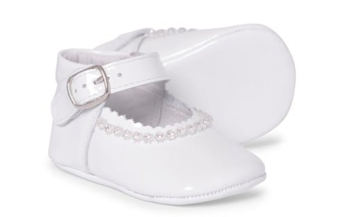 Baby Girls Soft Sole Shoe Gabriela 1174 - White Patent